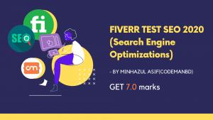 FIVERR TEST SEO 2020 (Search Engine Optimizations)