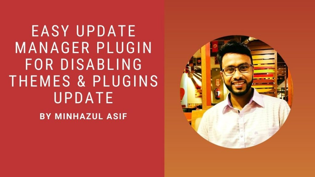 easy update manager plugin for disabling themes & plugins update