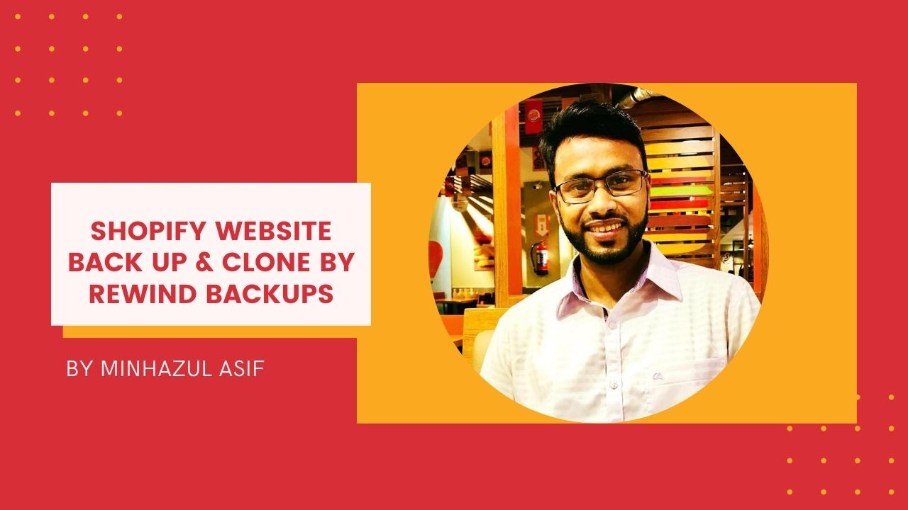 SHOPIFY website Back Up & Clone by rewind backups