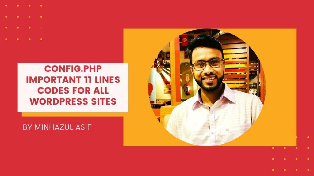 wp config.php important 11 lines codes for all wordpress sites